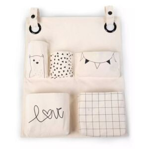 CHILDHOME Organiser Canvas with Prints Off White