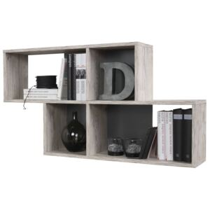 FMD Wall-mounted Shelf with 4 Compartments Sand Oak