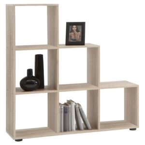 FMD Room Divider with 6 Compartments Oak Tree