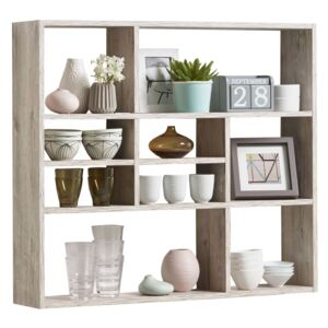 FMD Wall-mounted Shelf with 9 Compartments Sand Oak