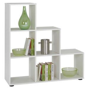 FMD Room Divider with 6 Compartments White