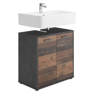 FMD Bathroom Sink Cabinet with 2 Doors Matera Old Style Dark