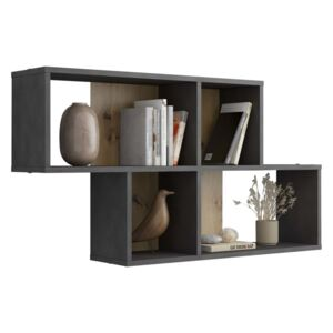 FMD Wall-mounted Shelf with 4 Compartments Matera Artisan Oak