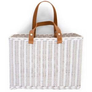 CHILDHOME Hanging Storage Basket with 2 Handles White
