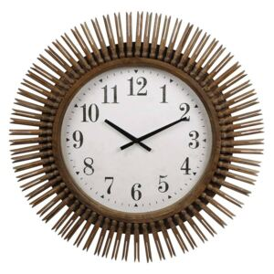 Gifts Amsterdam Wall Clock Daphne Round Wood Natural 64cm