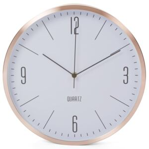 Perel Wall Clock 30 cm White and Rose Gold