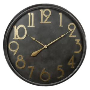 Gifts Amsterdam Wall Clock Antique Black and Gold 80.5cm
