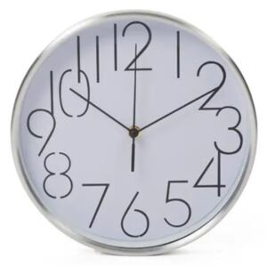 Perel Wall Clock 25 cm White and Sliver