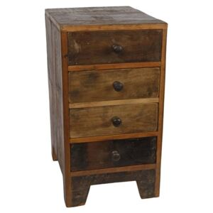 Gifts Amsterdam Storage Cabinet with Drawers Wood 27x36x50cm
