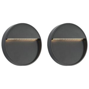 Outdoor LED Wall Lights 2 pcs 3 W Black Round