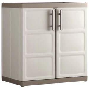 Keter Low Storage Cabinet Excellence XL Beige and Taupe 93 cm