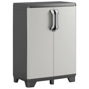 Keter Low Storage Cabinet Gear Black and Grey 97 cm