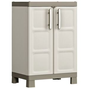 Keter Low Storage Cabinet Excellence Beige and Taupe 97 cm