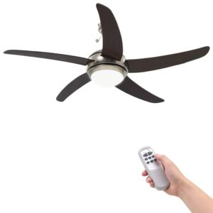 Ornate Ceiling Fan with Light 128 cm Brown