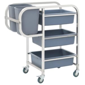 Kitchen Cart with Plastic Containers 82x43.5x92 cm