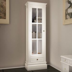 VidaXL Chic Bookcase Cabinet with 3 Shelves White Wooden