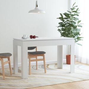 Dining Table White 120x60x76 cm Chipboard