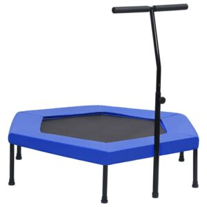 VidaXL Fitness Trampoline with Handle and Safety Pad Hexagon 122 cm