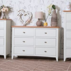 Gloucester White Painted Chest of 6 Drawers