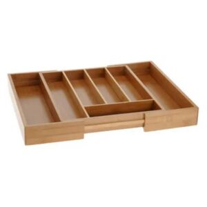Excellent Houseware Extendable Cutlery Tray Bamboo