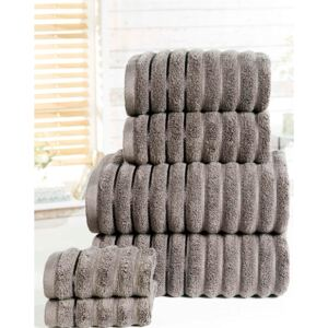 Ribbed 6 Piece Towel Bale Charcoal