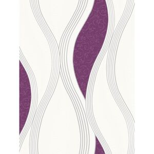 Wave Embossed Textured Wallpaper Purple Direct Wallpapers E62006