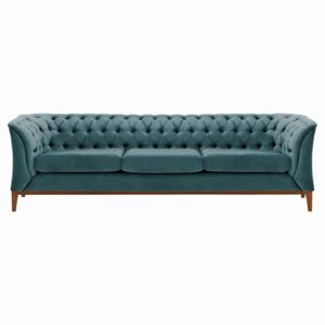 Chesterfield Modern 3 Seater Sofa Wood