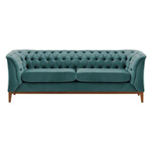 Chesterfield Modern 2,5 Seater Sofa Wood
