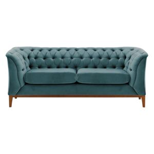 Chesterfield Modern 2 Seater Sofa Wood