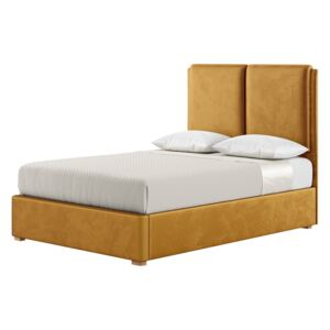 Felix 4ft6 Double Bed Frame With Contemporary Twin Panel Headboard