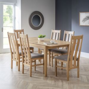 Cotswold Solid Oak Dining Chair With Fabric Seat