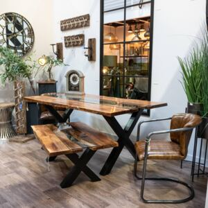 Live Edge River Dining Table