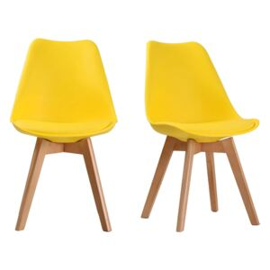Louvre Yellow Dining Chair - Pack Of 2
