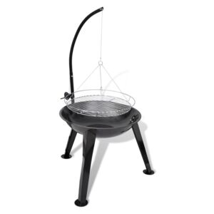 VidaXL BBQ Stand Charcoal Barbecue Hang Round