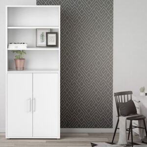 Prima White 2 Doors Cabinet With 5 Shelves
