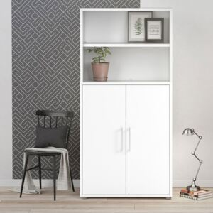 Prima White 2 Doors Cabinet With 4 Shelves