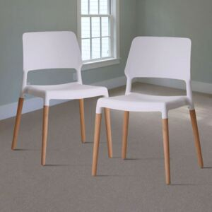 Riva White Dining Chair - Pack Of 2