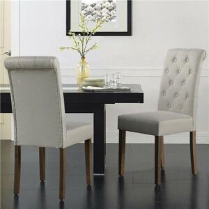 Set of 2 Upholstered Dining Chairs