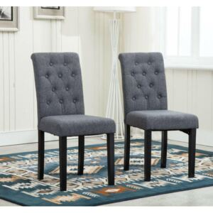 Set of 2 Fabric Dining Chairs