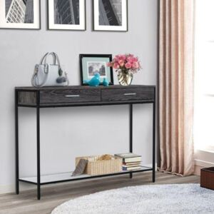 2 Drawer Grey Console Table