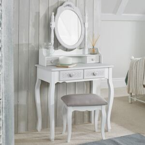 Brittany Shabby Chic Dressing Table Stool