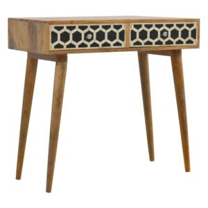 Lavoie Bone Inlay 2 Drawers Console Table