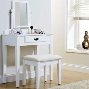 Set of Dressing Table in White