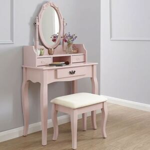 Set of Stylish Dressing Table in Pink