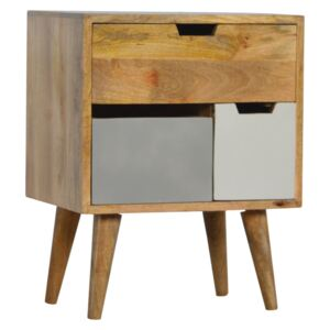 Swindon Grey & White Removable Drawers Cabinet
