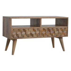 Williston 2 Cube Carved Drawers TV Unit