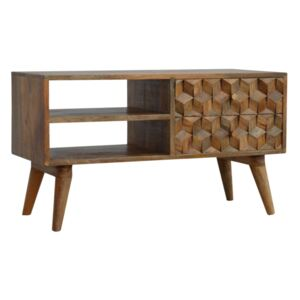 Williston 2 Cube Carved Drawers Media Unit