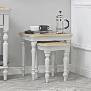 Ashbourne Grey Painted Nest of 2 Tables
