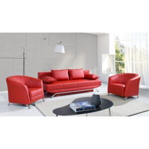 FURNITOP Sofa Set 3+1+1 OLIER red