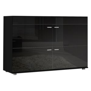 FURNITOP Chest of Drawers LOGO 2F black gloss (night)